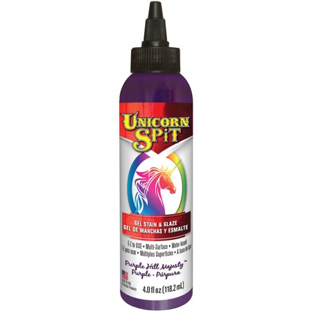 Unicorn Spit Wood Stain & Glaze 4oz-Purple Hill Majesty Faux Painting Glaze