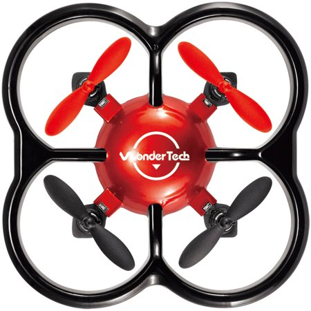 Deals WonderTech Firefly RC 6-Axis Gyro Remote Control Quadcopter Flying Drone with LED Lights, Red Before Special Offer Ends