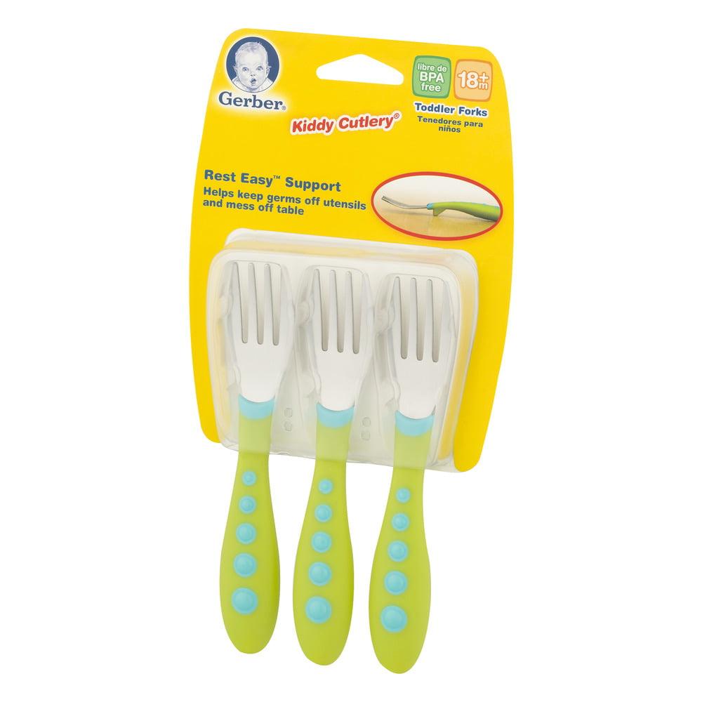 Gerber Toddler Forks 18+m - 3 CT - Walmart.com