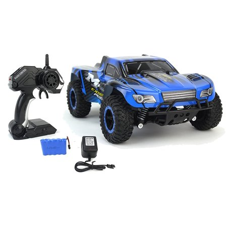 Cheetah King Remote Control Toy RC Truck Car 2.4 GHz 1:16 Scale Size w/ Working Suspension, Spring Shock Absorbers