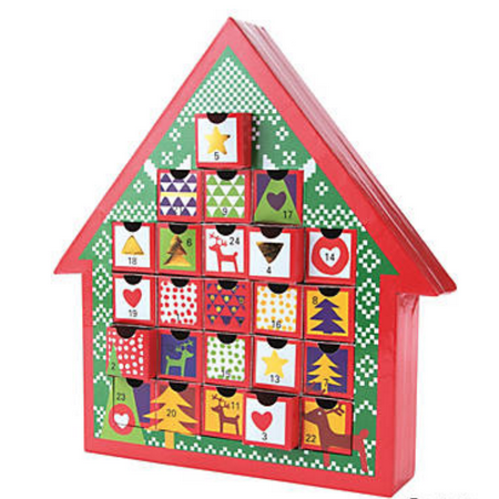 Christmas Advent Calendar with Drawers to Hold Treats or