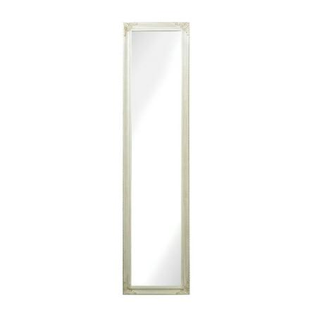 Masalia Floor Mirror in Antique White ()