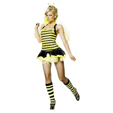 Queen Bumble Bee Sexy 4 Pc S/M (Bumble Bee Tutu)