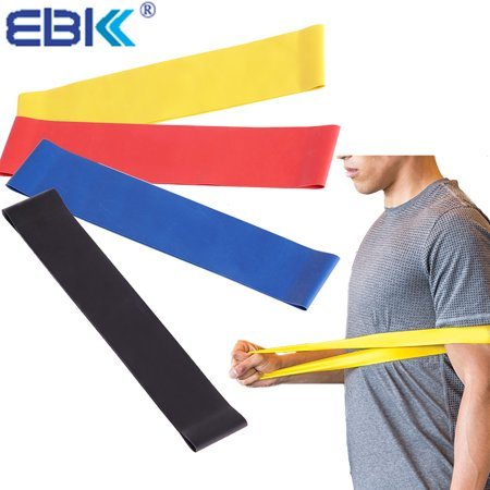 EBK Stretch Band Resistance Bands Loops for Exercise & Fitness for legs, arms, back, ankles, hips or shoulders,muscle