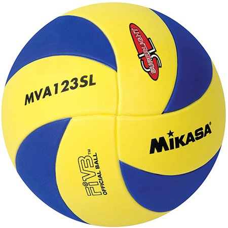 Mikasa MVA123SL Youth Training Indoor Volleyball, Blue/Yellow