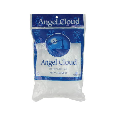 angel cloud soft white angel hair christmas decoration 1 oz - Angel Hair Christmas Decoration