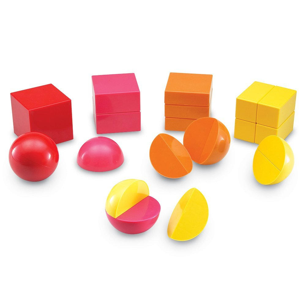Learning Resources Magnetic 3D Fraction Shapes, Ages 5+