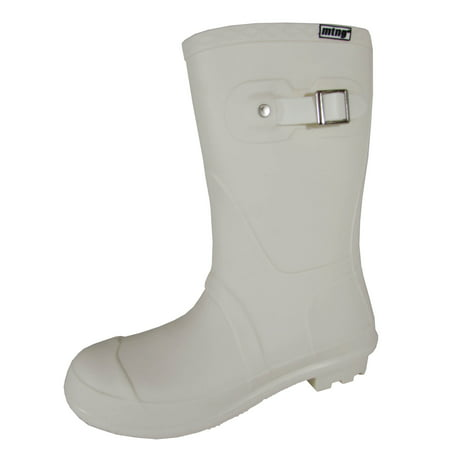 Mustang By MTNG Womens 55596 Pull On Rain Boots (Kids Silver Boots)