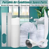 "Window Slide Kit Plate /Adaptor/Universal Duct Exhaust hose 5""/5.9""  For Portable Air Conditioner"