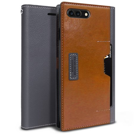 Iphone 7 Plus Case  Obliq  K3 Wallet  Black Gray Brown  Premium Leather  Flip Cover With Four Credit Card   Id Pocket Slots Stylish Wallet Case  For Apple Iphone 7 Plus   2016