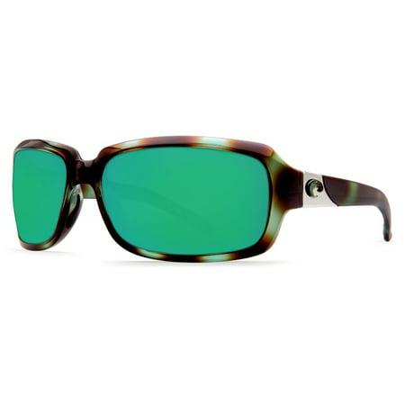 2afc15cd97 Costa Del Mar - Costa Del Mar Isabela Shiny Seagrass Rectangular Sunglasses  Green Lens 580G - Walmart.com