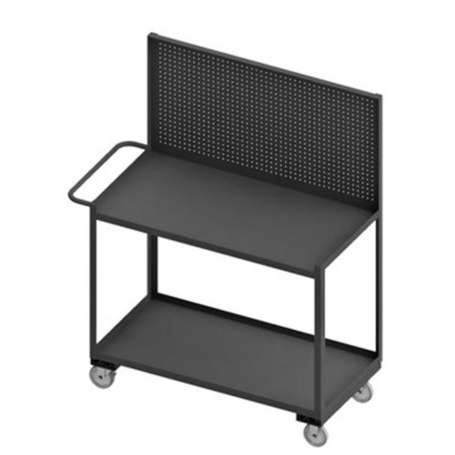 Durham RSC-2448-2-PB-95 65 in. Mobile Work Stations, Gray - 1200 lbs