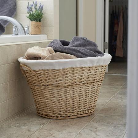 Household Essentials Tall Willow Laundry Basket - Walmart.com