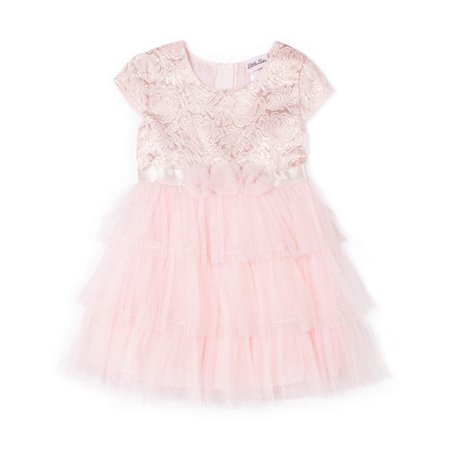 Cap Sleeve Tiered Skirt Special Occasion Holiday Dress (Baby Girls & Toddler Girls) - Special Occasion Girls Dresses