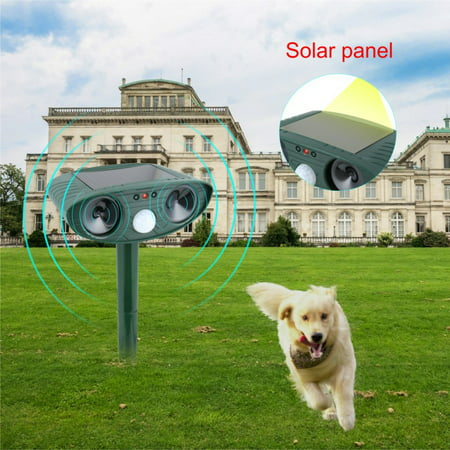 MarinaVida Solar Ultrasonic Bird Animal Repeller Pest Possum Deterrent Repellent PIR Sensor