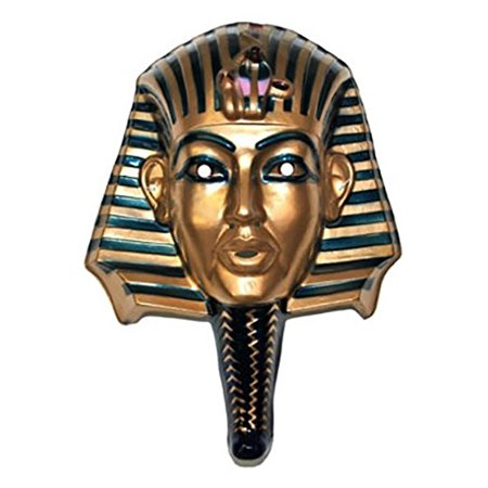 King Tut Egyptian Mask Egypt Pharaoh Tutankhamun Mummy Face Costume -