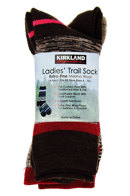 558b5b4f4 Kirkland Signature - Kirkland Signature Ladies  Trail Socks Merino Wool