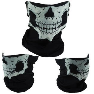 Graphic Motorcycle Face Mask - Skull Mask Bandana Motorcycle Face Snowboard Ski Mask Masks Balaclava 3-Pack