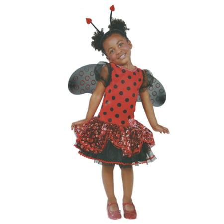 Infant & Toddler Girls Little Ladybug Costume with Dress Wings & Headband