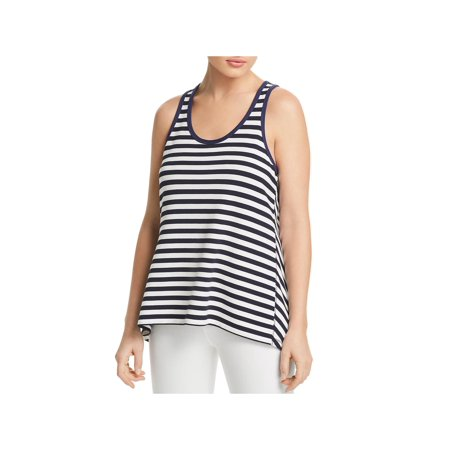 Rag & Bone Womens Kat Striped Split Back Tank Top (Split Back Tank)