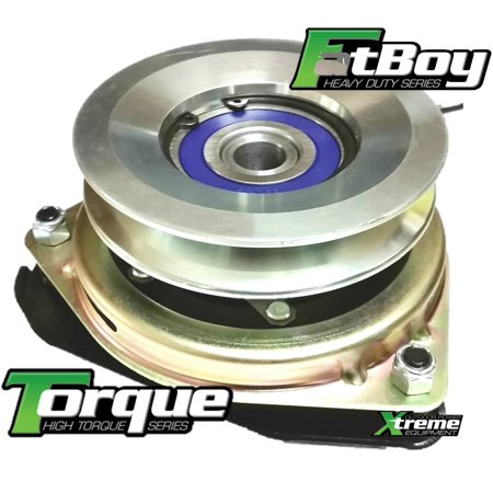 Replaces Husqvarna 539133076 PTO Clutch w/ High Torque & FatBoy Bearing Upgrade