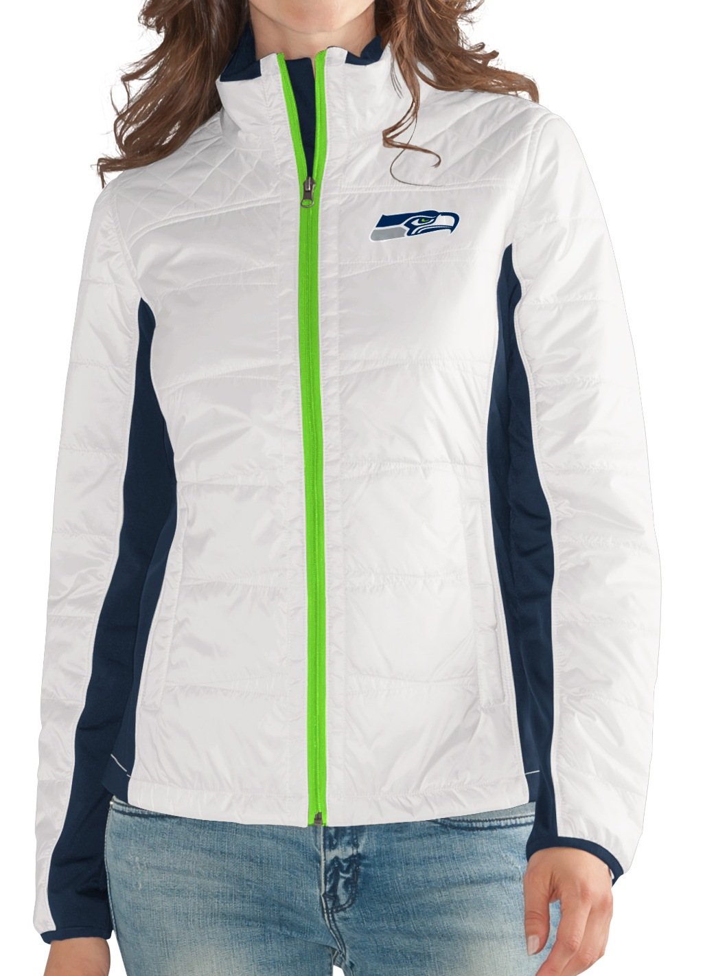 "Seattle Seahawks Women's NFL G-III ""Fullback"" Full Zip Quilted Jacket by G-III Sports"