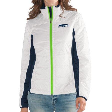 Seattle Seahawks Womens Nfl G Iii   Fullback   Full Zip Quilted Jacket