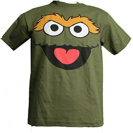 Sesame Street Oscar the Grouch Youth T-Shirt Army Green Medium 10/12
