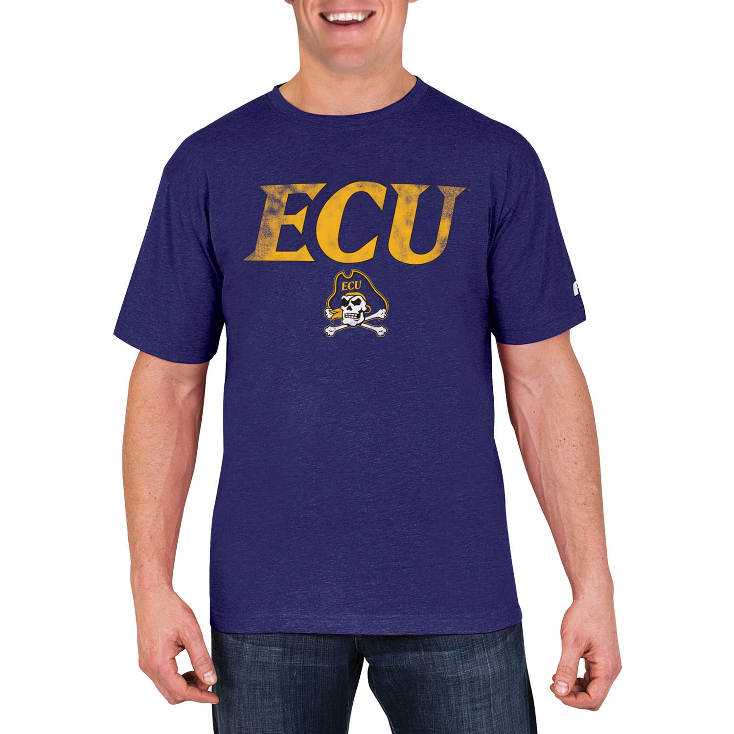 NCAA East Carolina Pirates Men's Cotton/Poly Blend T-Shirt