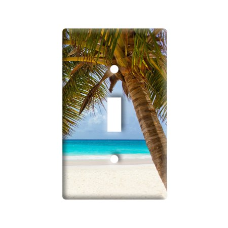 Tropical Palm Tree Ocean Beach Light Switch Plate Cover - Lightswitch Cover