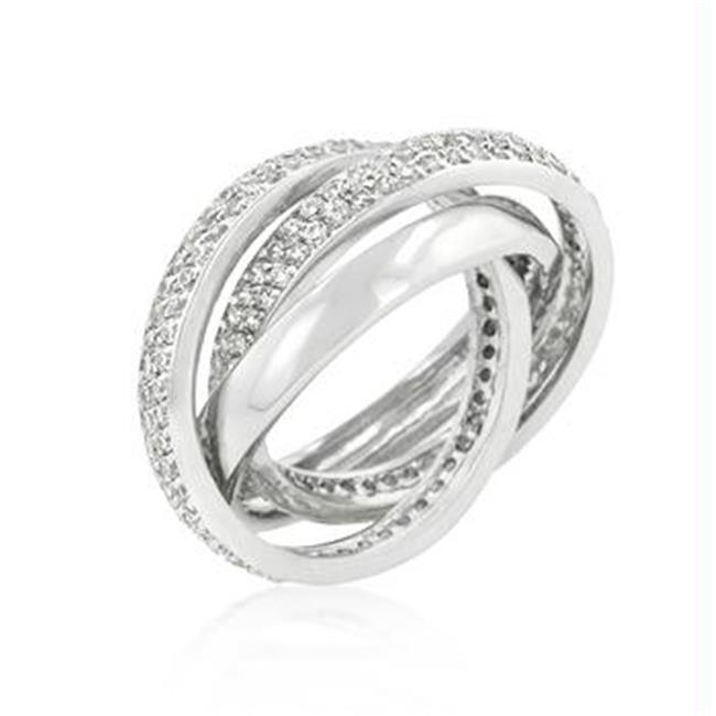 Eternity Band Triplet with Clear Cubic Zirconia, <b>Size :</b> 05