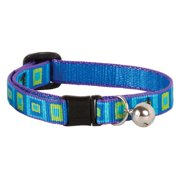 "Lupine Collars and Leads 73227 1/2"" x 8""-12"" Sea Glass Design Safety Cat Collar with Bell"