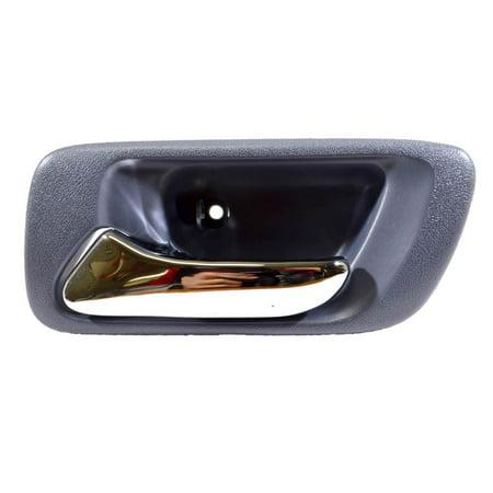 - PT Auto Warehouse HO-2580MJ-RL - Inner Interior Inside Door Handle, Blue (Lapis) Housing with Chrome Lever - Driver Side Rear