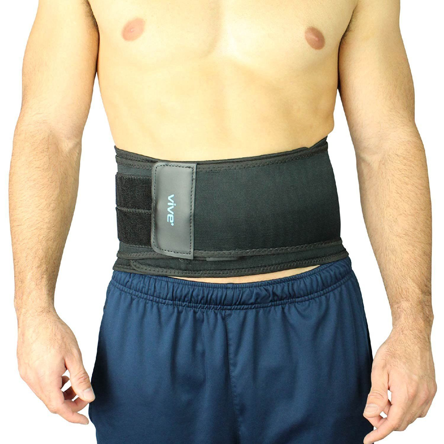 Vive Lumbar Support Back Brace with Dual Tightening Straps.