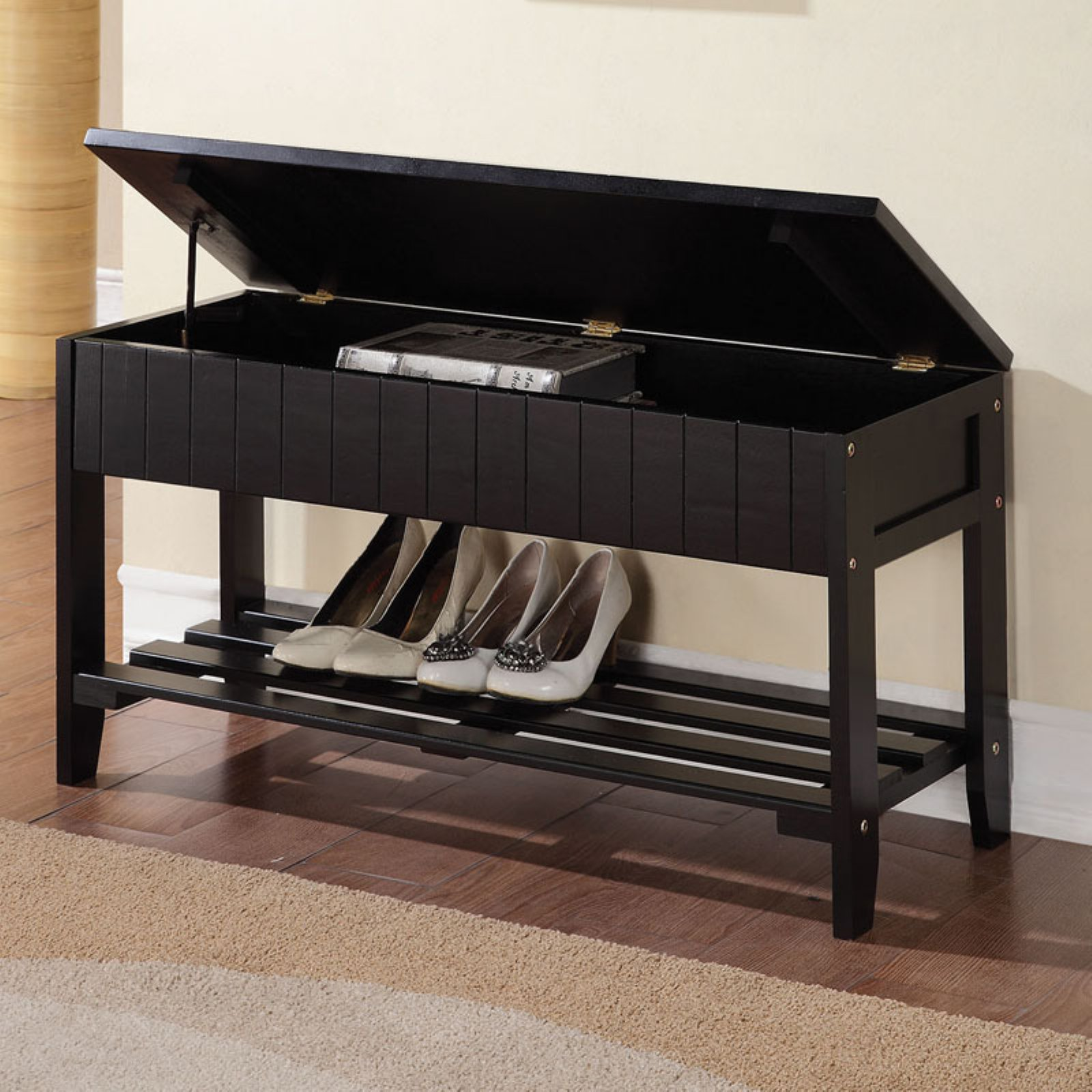 ACME Xio Storage Bench, Black by Acme Furniture