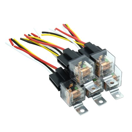Waterproof DC 12V 80A SPST Auto Car Relay 4 Pin 4 Wires w/ Harness on