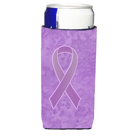 Lavender Ribbon for All Cancer Awareness Ultra Beverage Insulators for slim cans AN1200MUK (Als Ribbon)