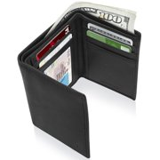 Best Mens Trifold Wallets - Mens RFID Wallet Genuine Leather Slim Trifold ID Review
