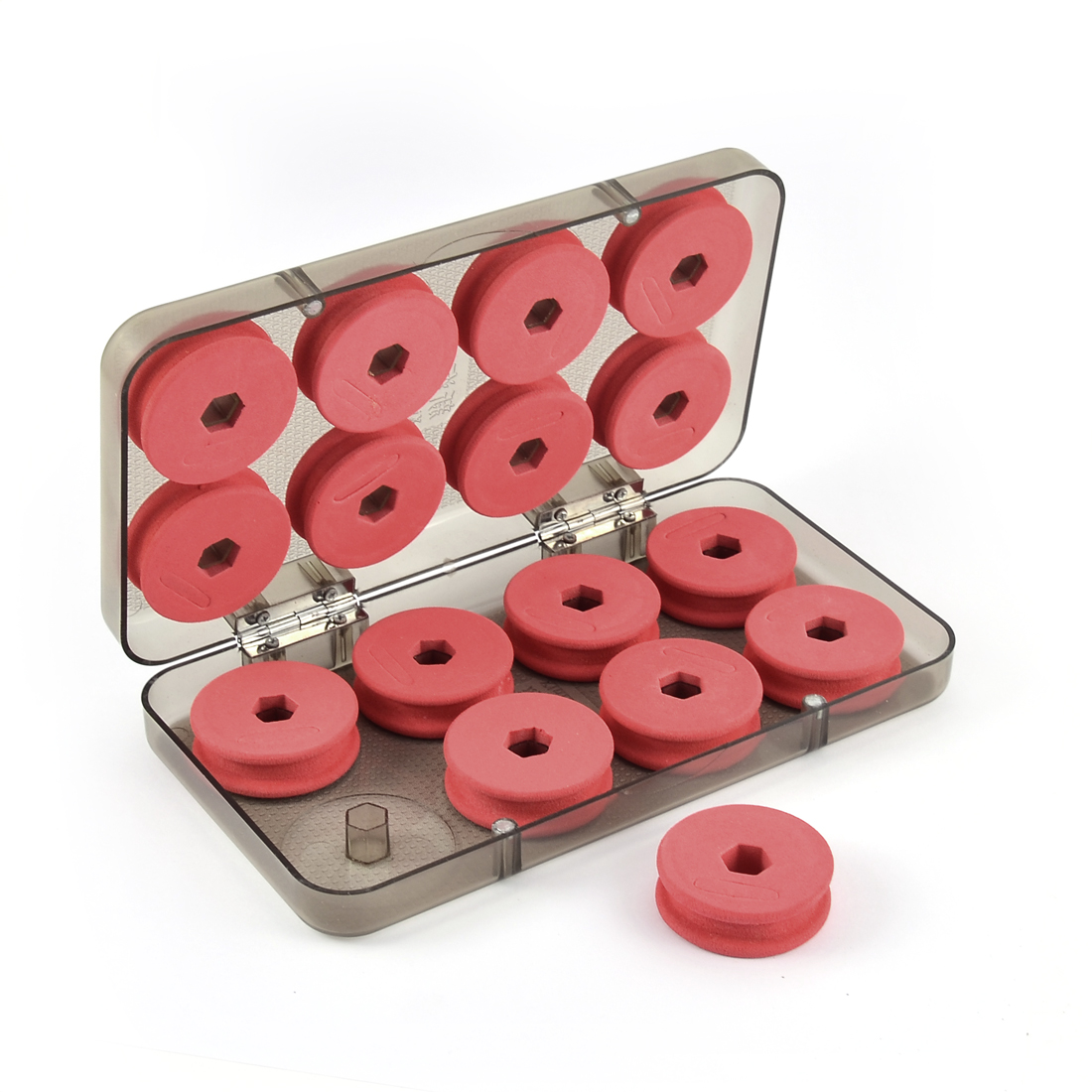 Unique Bargains Red Foam Winding Board Fishing Line Shaft Bobbin Spools Tackle Box Gear 16Pcs by Unique-Bargains