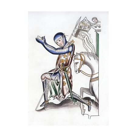 Knight, Late 12th Century Print Wall Art By Henry Shaw (12th Century Knight)