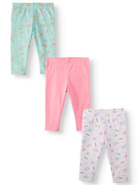 1bb02e8bf5db0 Product Image Garanimals Solid & Print Leggings, 3pc Multi-Pack (Baby Girls)