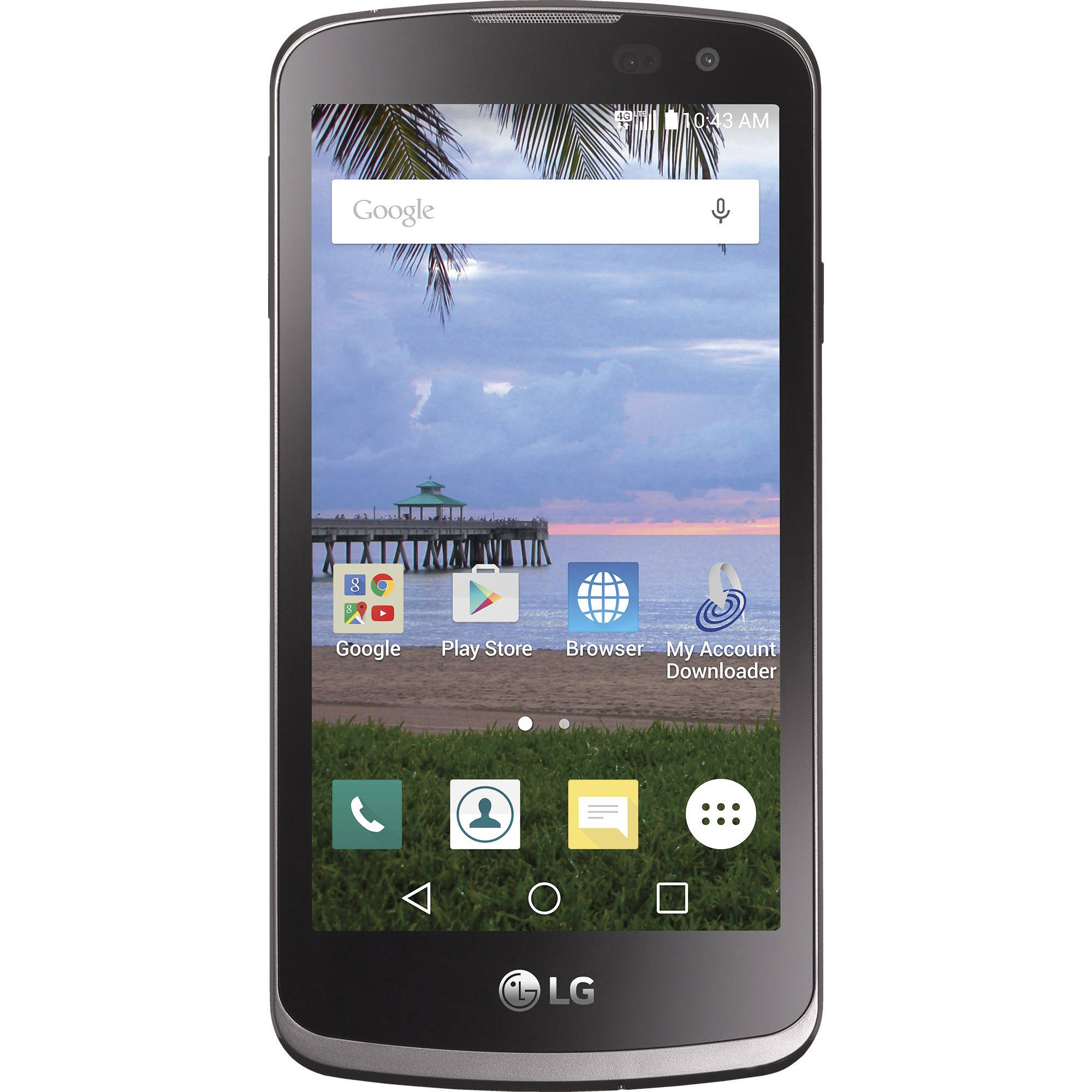 Straight Talk LG Rebel 8GB Prepaid Smartphone, Black