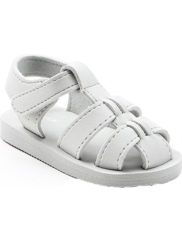 Angel Baby Girls Silver EVA Foam Fisherman Sandals 5-10 Toddler