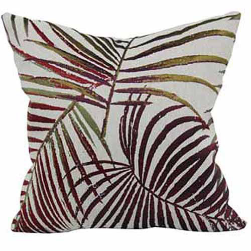 Click here to buy Better Homes and Gardens Palms Jacquard Throw Pillow, Multi-Colored by Brentwood.