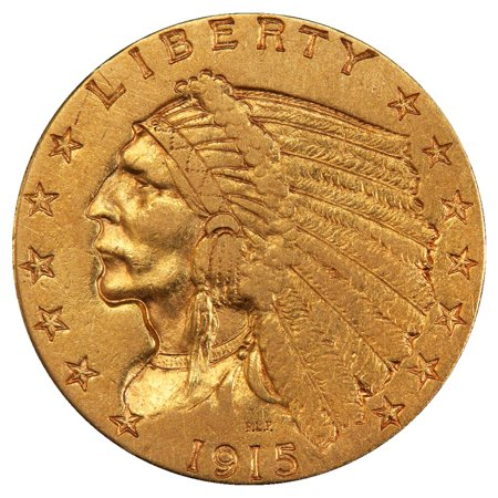 $2.50 Indian Quarter Eagle Gold Coin - Random Year VF+ (Indian Gold Coin)