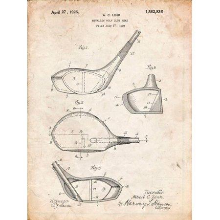 Arb Equipment (Golf Club Driver Patent Vintage Sports Equipment Diagram Print Wall Art By Cole Borders )