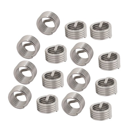 Unique Bargains 15Pcs M14 Inner Thread 14mm Installed Length Stainless Steel Helical Coil Insert