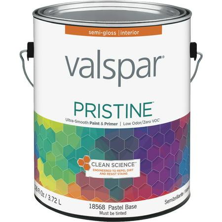 Valspar Pristine 100 Acrylic Paint Primer Semi Gloss Interior Wall Paint