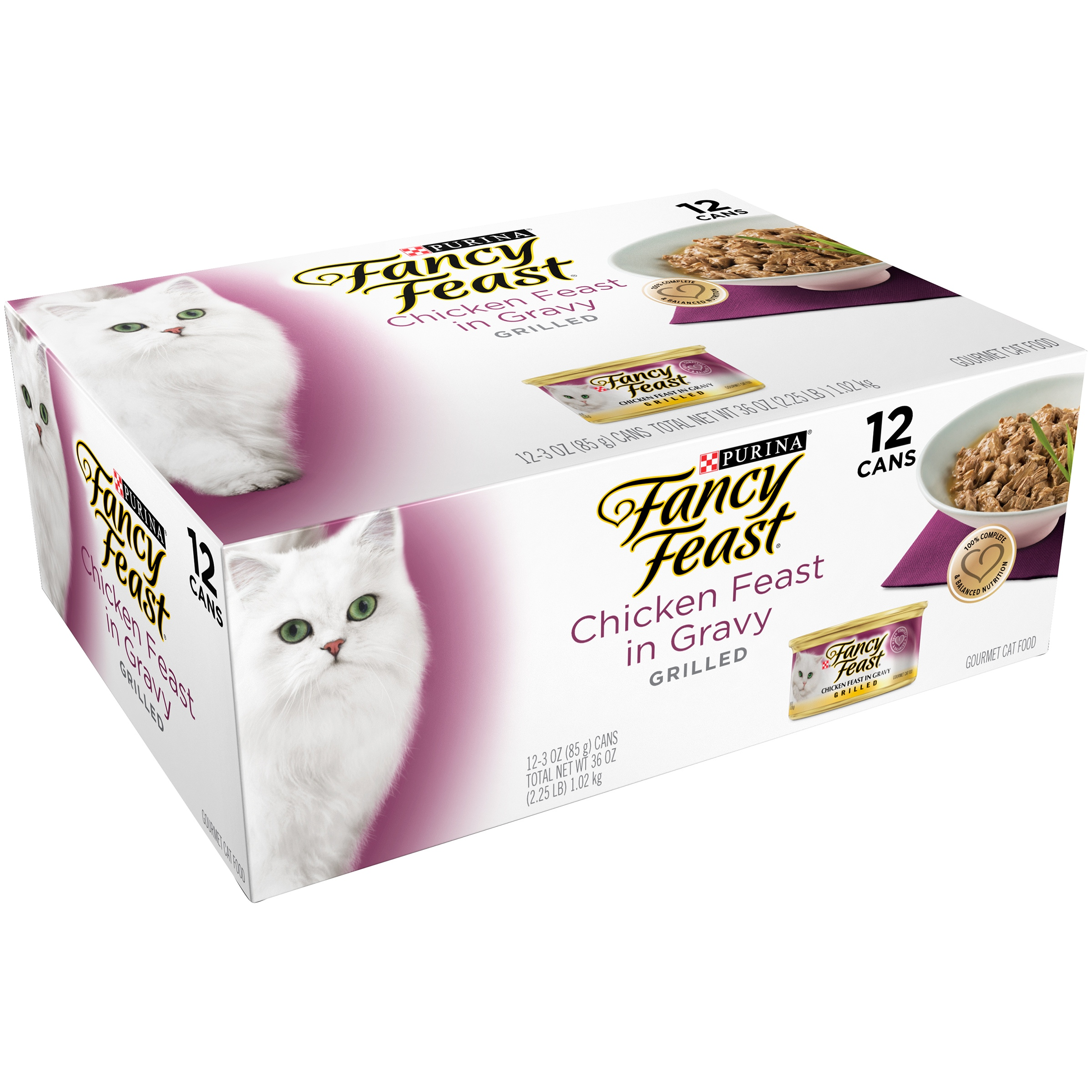 Purina Fancy Feast Grilled Chicken Feast in Gravy Collection Wet Cat Food (12) 3 oz. Cans