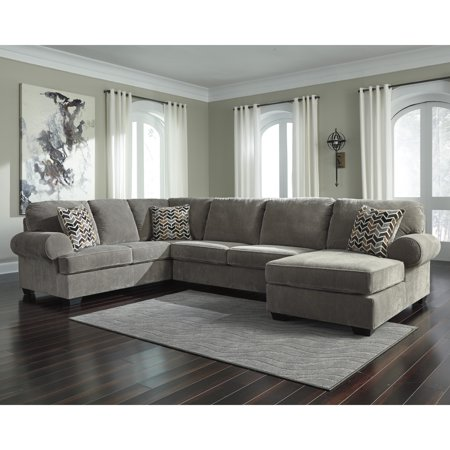 Magnificent Flash Furniture Signature Design By Ashley Jinllingsly 3 Piece Laf Sofa Sectional In Gray Corduroy Uwap Interior Chair Design Uwaporg